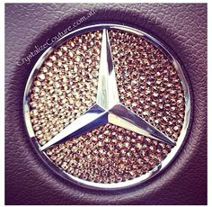 Mercedes Benz car crystalised logo!