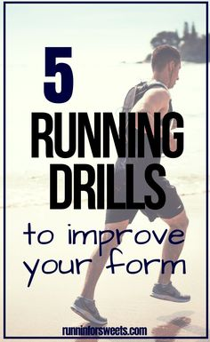 These 5 running form drills are a simple and effective way to improve running speed and technique. Try these running drills before or after a run to correct bad form and encourage proper form with ease. Running Drills, Running Workouts, Running Tips, Running Training, Running Humor, Training Plan, Training Equipment, Trail Running, Learn To Run