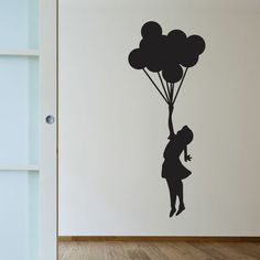 Free Delivery and Buy 2 Get One FREE Wall Sticker Now! Banksy Floating Balloons Silhouette Wall Art Sticker - Wall StickersFree Delivery and Buy 2 Get One FREE Wall Sticker Now! Banksy Floating Balloons Silhouette Wall Art Sticker - Wall Stickers - This Modern Wall Decals, Vinyl Wall Decals, Wall Stickers, Banksy Art, Graffiti, Wall Painting Decor, Wall Art, Balloon Girl Banksy, Floating Balloons
