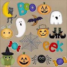 Tricks & Treat Stickers Pack One by HarperFinchDesigns on Etsy, $2.99