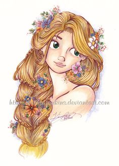 disney art rapunzel | Rapunzel by ~Kerrie-Jenkins on deviantART