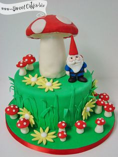 how to make a fondant gnome