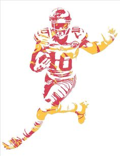Tyreek Hill KANSAS CITY CHIEFS PIXEL ART 6 Art Print by Joe Hamilton. Nfl Chiefs, Kansas City Chiefs Football, Football Art, Football Stuff, Chiefs Wallpaper, Football Wallpaper, Chiefs Super Bowl, Joe Hamilton, Thing 1