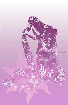 Princess Rapunzel Silhouette by ArtisticDreamers on Etsy, $10.00