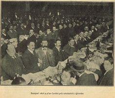 L' àpat oficial al Tibidabo dels diputats i senadors homenatjats el 20-05-1906.-