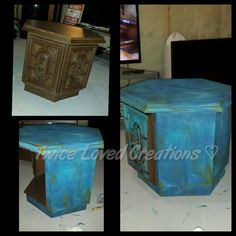 I thought I'd share a set of end tables I had completed using ML furniture custom Bermuda blending technique Maria is a master at blending and I have been very…