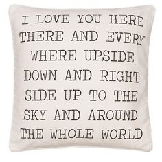 Levtex 'Love You Here' Accent Pillow ($39) found on Polyvore featuring home, home decor, throw pillows and canvas home decor