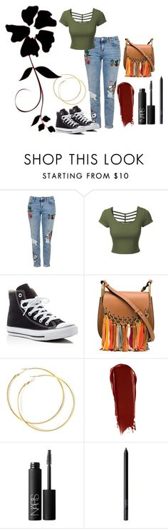 """""""Untitled #210"""" by zoeholmquist on Polyvore featuring Topshop, LE3NO, Converse, Chloé and NARS Cosmetics"""