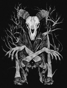 Dark forest, glow of the lake, an eternal dance of death Heavy Metal Art, Satanic Art, Dance Of Death, The Ancient Magus, Dark Artwork, Dark Drawings, Demon Art, Occult Art, Dark Tattoo