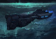 Blue Ship, Joel Pigou on ArtStation at https://www.artstation.com/artwork/blue-ship