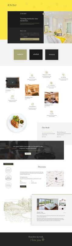 #hotel #restaurant #booking #rooms #amenities #services #book #creative #yellow #diadea #diadea3007