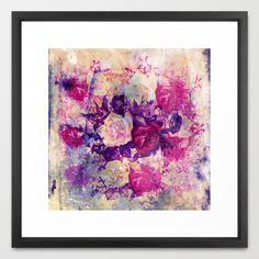 bouquet de roses Framed Art Print