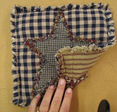 Ideas for Homespun Quilt Scraps, Potholder. Oh yes please