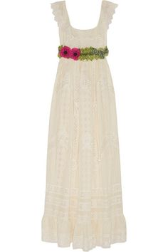 Valentino Embroidered cotton-voile gown #Valentino