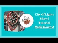 CITY OF LIGHTS CROCHET SHAWL TUTORIAL   RIGHT HANDED - YouTube Crochet Shawl, City Lights, Fiber, Youtube, Crafts, Manualidades, Low Fiber Foods, Handmade Crafts, Craft