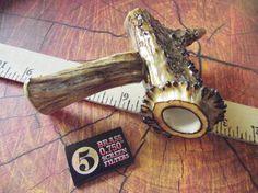 Large Handcrafted Genuine Deer Antler Pipe by BlackBearsBazaar, $79.99