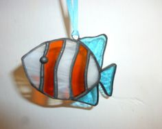 mariposa de vidrieras suncatcher por HiromisGlass en Etsy