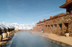 Best Mountain Hideaway: Amangani, Jackson Hole, Wyoming.  From the 20 best hotel pools in the world 2013 by Fodor's Travel