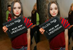Ellen Page that's face is just so beautiful it's to die for!
