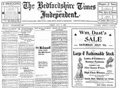 Copies of the Bedfordshire Times and Independent from 1891-1935 are now online at The British Newspaper Archive.