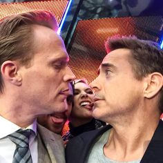 ...and still pretty weird... - @RobertDowneyJr #Avengers #AgeOfUltron cc: @Paul_Bettany and the Maximoff Twins