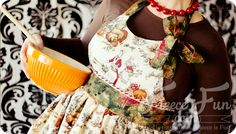 "This Free apron pattern and tutorial includes a video tutorial! You can make a classic apron that is cute enough for hosting, but practical for everyday use! Inspired by the ""Baking Outside the Box..."