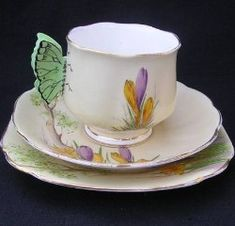 Royal Albert 'Corcus' butterfly handles