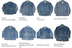 Workers: Railroad Jackets Vintage Jeans, Vintage Outfits, Vintage Fashion, Fashion Wear, Denim Fashion, Denim Jacket Men, Men's Denim, Denim Jackets, Work Jackets