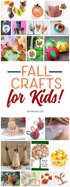 Fun Fall Crafts for Kids! Keep the kids entertained with these fun fall crafts for kids! This is a perfect activity for your Harvest or Thanksgiving Party! Fall Crafts For Toddlers, Easy Fall Crafts, Thanksgiving Crafts, Toddler Crafts, Crafts To Do, Kids Crafts, Preschool Crafts, Decor Crafts, Fall Tree Painting