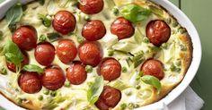 7 leichte Low-Carb-Abendessen. Zum Beispiel dieser Tomatenauflauf mit Ricottacreme.