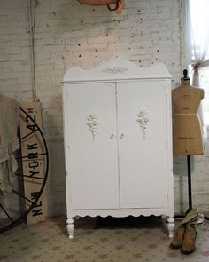 One of a Kind Romantic Armoire shabby chic armoire [AM249] - $395.00 : The Painted Cottage, Vintage Painted Furniture