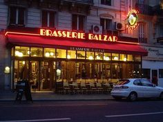 brasserie Balzar in paris, near the Sorbonne.
