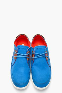 DIESEL Bright Blue Twill Joyful Shoes
