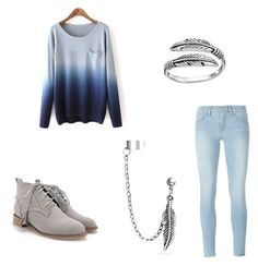 """""""Untitled #2"""" by skyler101g ❤ liked on Polyvore featuring Frame Denim, Primrose and Bling Jewelry"""