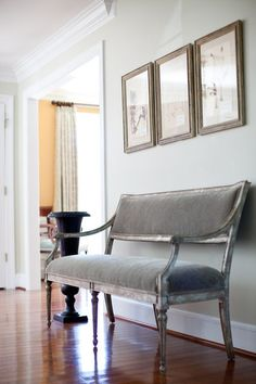 When is a settee a bench? A settee with space between the back and the seat, like the one shown here, can also be called a bench.