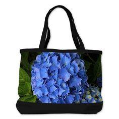 Blue hydrangea flowers 2 Shoulder Bag on CafePress.com