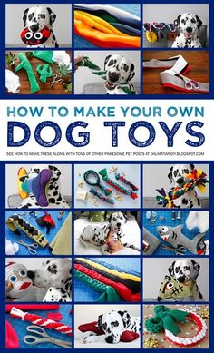 Want to make your own dog toys? Check out our doggone great collection of DIY dogs toy instructions and much more at Dalmatian DIY!