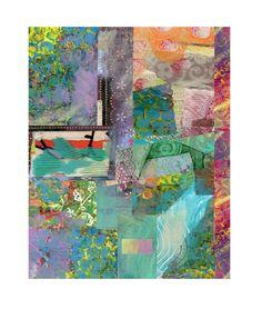 Jewel Tone Wall Art Collage Print by BethNadlerArt on Etsy