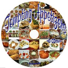 A steal of a deal! Appetizer Recipe Collection cd Cookbooks Snacks Party Desserts Easy Holiday $5.50 w/free shipping!