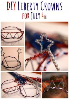 Let your kids dress up like Lady Liberty for Independence Day with our simple, DIY Liberty Crowns for July 4th