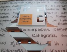 Multilingual description of calligraphy Caligraphy, Non Profit, Vienna, Texts, Encouragement, Teaching, Learning, Texting, Education