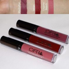 """❤️Have you ordered the Ofra Valentine's Day """"Lip Affair"""" Bundle? ❤️ @ofracosmetics .  The bundle includes these 3 Beautiful MATTE Shades:  Manhattan, Milan New! & Laguna Beach. . The bundle Retails for $49.70 Code: KIMJLUV will get you 30% off this Set. ($34.79) on OfraCosmetics.Com . . Pic: @makeuptattle (My product shots, Reviews & Makeup News Page) .  #ofracosmetics #ofra #lipaffair #bblogger #brian_champagne #lipstick #valentines #red #mauve #pink #ootd #makeupaddict #makeupartist…"""