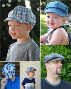 Create Kids Couture - Christopher's Newsboy Cap PDF sewing pattern fits newborn to adult large!