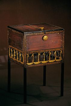 *EGYPT~Decorative chest with long legs, Tutankhamun and the Golden Age of the Pharaohs, Page 244