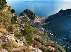 #Amalfi and its valley from Punta d'Aglio!