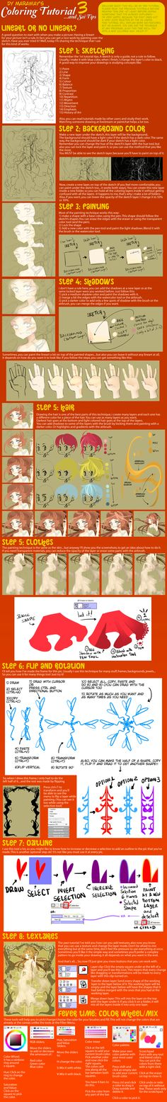 Coloring Tutorial and Sai Tips 3 by ~DyMaraway on deviantART