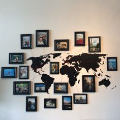 World map with pins of places I've been. This is my favorite part of my apartment! #worldtravel #wanderlust