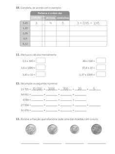 Fichas de avaliação mensal 3º