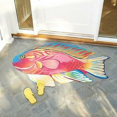 So whether you're along the coast or living inland, bring the beauty of the ocean to your poolside, doorway or guesthouse with our Pink Damsel Fish Mat.