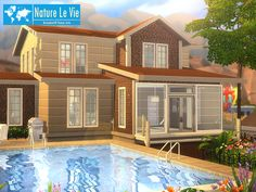 Nature Le Vie house by BrandonTR at TSR via Sims 4 Updates